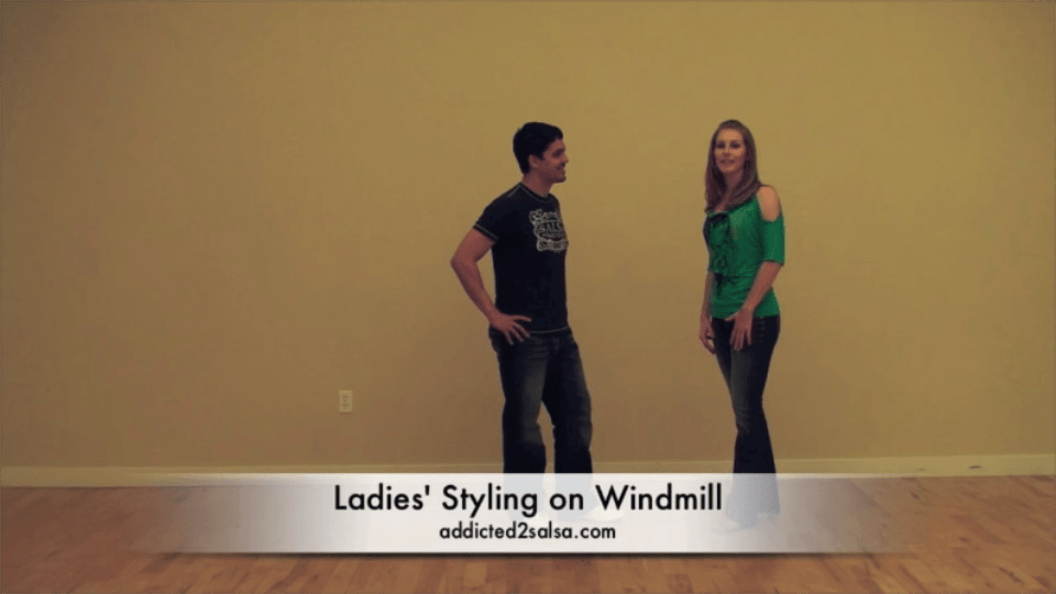 The Windmill Combo with Ladies' Styling Salsa Dance Video