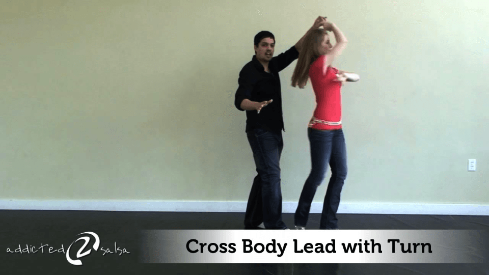 levar cruz corpo com giro Salsa Dance Video