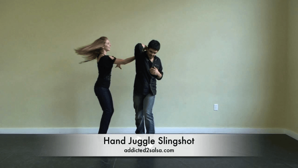 Hand Juggle Slingshot Salsa Dance Video