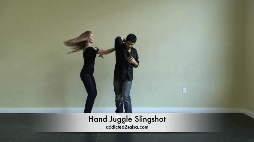 Hand jonglieren Schleuder Salsa Dance Video