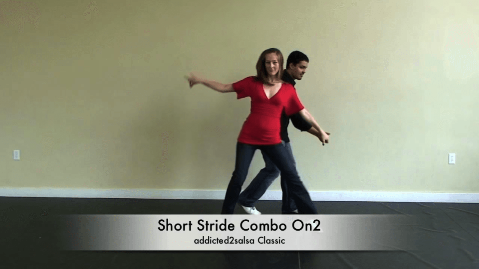 Kurze Stride Combo On2 Timing Salsa Dance Video