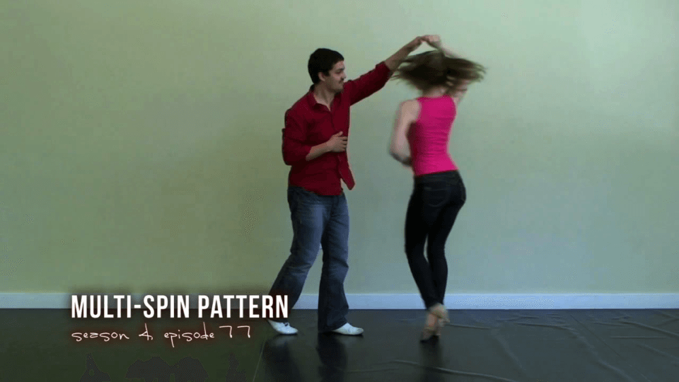 Combinacion con Múltiples Giros Salsa Dance Video