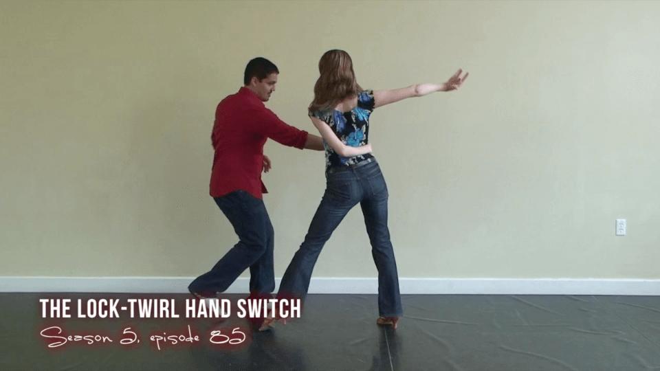 Schloss drehen Handschalter Salsa-Tanz bewegen Salsa Dance Video