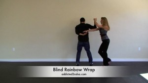 Salsa Dancing Blind Rainbow Wrap Combination