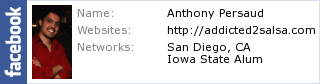 Anthony's Facebook Profile