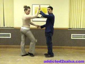 How to Dance Salsa : Basic Dance Step Video
