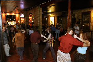 Salsa Tip: Try not to overwax the dance floor...