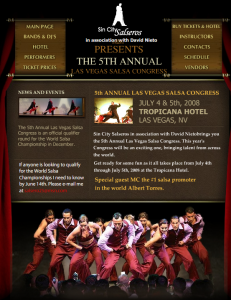 Las Vegas Salsa Congress - July 4th Weekend