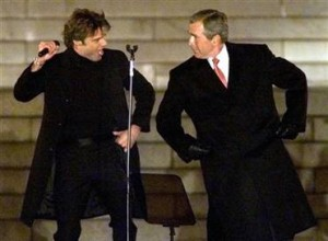 President Bush Dances Salsa with Ricky Martin