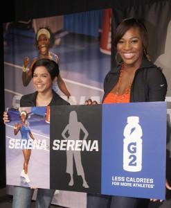 Serena Cuevas and Serena Williams for G2