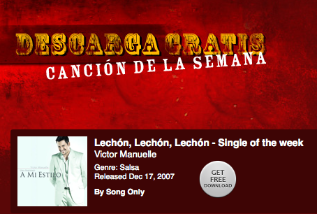 Victor Manuelle - Lechn, Lechn, Lechn - Single of the week