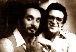 Willie Colon (left) with Hector Lavoe (right)