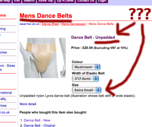 Latin Dance Belt